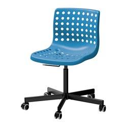 SKÅLBERG/SPORREN - Swivel chair, blue/black