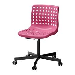 SKÅLBERG/SPORREN - Swivel chair, pink/black
