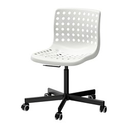SPORREN/SKÅLBERG - Swivel chair, white/black