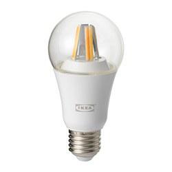 TRÅDFRI - Bohlam LED E27 806 lumen, dapat diredupkan secara wireless spektrum putih/bulat bening