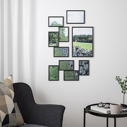 YLLEVAD - Collage frame for 4 photos, black