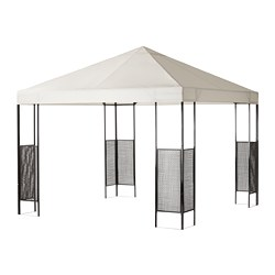 AMMERÖ - Gazebo, dark brown/beige
