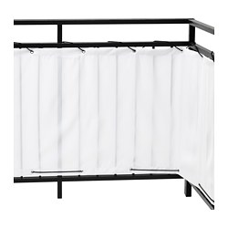 DYNING - Balcony privacy screen, white