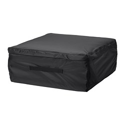 TOSTERÖ - Storage bag for cushions, black