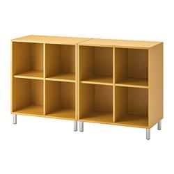 EKET - Kombinasi kabinet dengan kaki, emas-cokelat