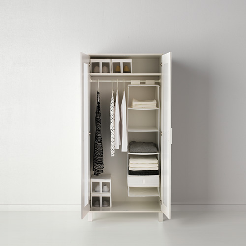 SKUBB - penyimpanan dengan 6 kompartemen, putih, 35x45x125 cm | IKEA Indonesia - PE386047_S4