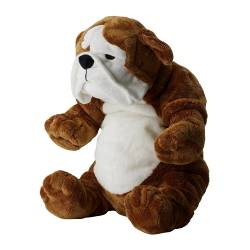 KLAPPAR - Soft toy, bulldog brown/white