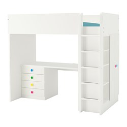 STUVA/FÖLJA - Loft bed combo w 4 drawers/2 doors, white