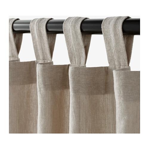 LENDA curtains with tie-backs, 1 pair