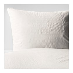 OFELIA VASS - Quilt cover and 2 pillowcases, white