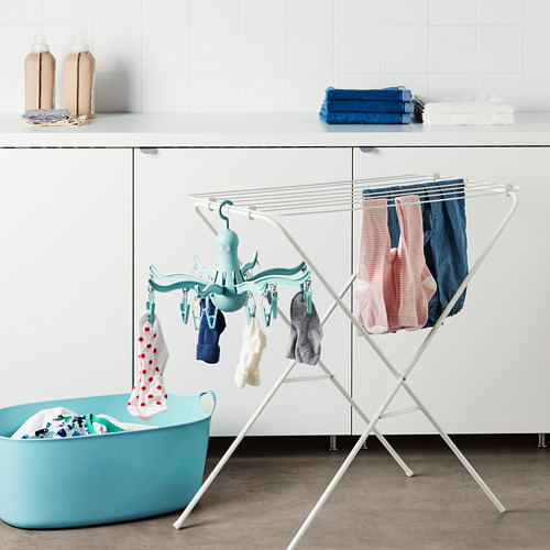 PRESSA - jemuran baju dgn 16 penjepit baju, toska   IKEA Indonesia - PE712057_S4