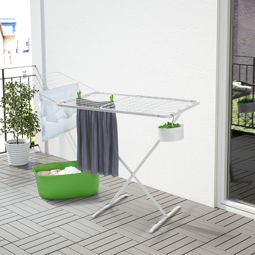 MULIG - jemuran, dalam/luar ruang, putih | IKEA Indonesia - PE567227_S4