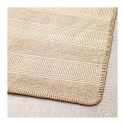 KLEJS - Karpet, anyaman datar, putih krem