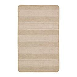 KLEJS - Karpet, anyaman datar, krem/putih