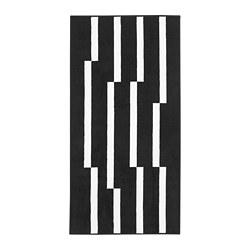 JÖRSBY - Rug, low pile, black/white