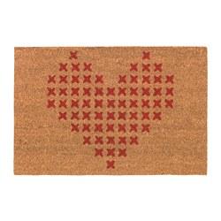 VINTER 2019 - Door mat, red/beige