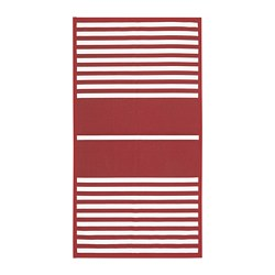 VINTER 2019 - Rug, flatwoven, red/white