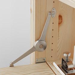 IVAR - 2 bag/unit pnyimpanan dg meja lipat, kayu pinus/putih