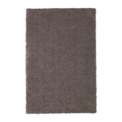HÖJERUP - Rug, high pile, grey-brown