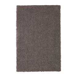 HÖJERUP - Karpet tebal, abu-abu cokelat