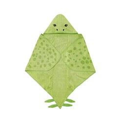 JÄTTELIK - Handuk dengan penutup kepala, dinosaur/hijau