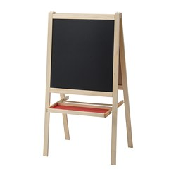 MÅLA - Easel, softwood/white