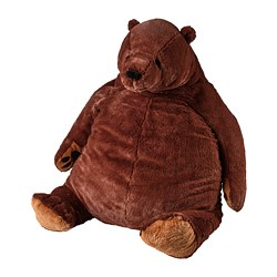 DJUNGELSKOG - Soft toy, brown bear