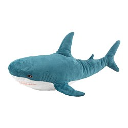 BLÅHAJ - Soft toy, shark