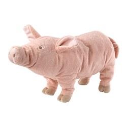 KNORRIG - Boneka, babi/merah muda