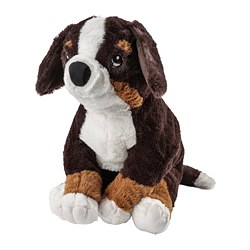 HOPPIG - Boneka, anjing/bernese mountain dog, 36 cm