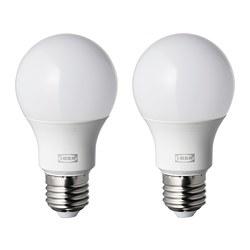 RYET - Bohlam LED E27 806 lumen, bulat putih opal