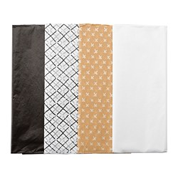 GIVANDE - Tissue paper, black natural/white