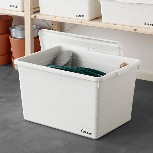 SOCKERBIT - kotak dengan penutup, putih, 38x51x30 cm | IKEA Indonesia - PE643450_S4