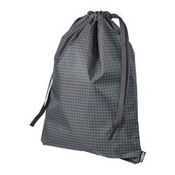 RENSARE - RENSARE, tas, pola kotak/hitam, 30x40 cm/8 l