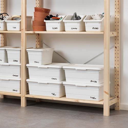 SOCKERBIT - kotak dengan penutup, putih, 38x25x15 cm | IKEA Indonesia - PE643447_S4