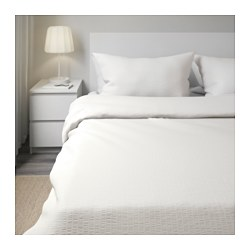 OFELIA VASS - Quilt cover and 4 pillowcases, white