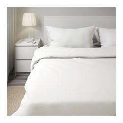 DVALA - Sarung quilt dan 4 sarung bantal, putih