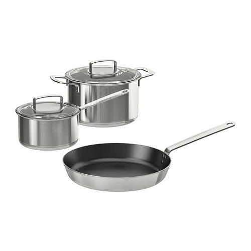 IKEA 365+ peralatan masak, set isi 5