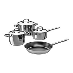 OUMBÄRLIG - 7-piece cookware set