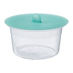 IKEA 365+ - Food container with lid, round plastic/silicone