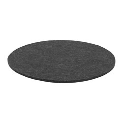 ODDBJÖRG - Chair pad, grey