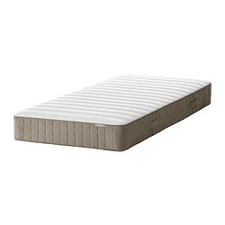 HAMARVIK - Sprung mattress, firm/dark beige