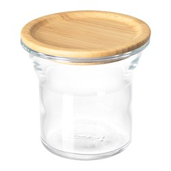 IKEA 365+ - Jar with lid, glass/bamboo