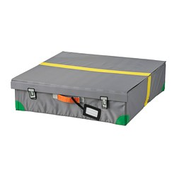 FLYTTBAR - Bed storage box, dark grey
