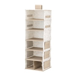 STORSTABBE - Hanging storage with 7 compartments, beige