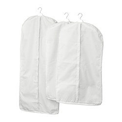 STUK - Clothes cover, set of 3, white/grey
