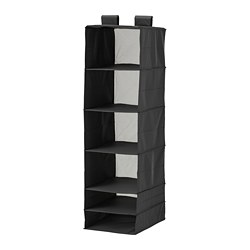 SKUBB - Storage with 6 compartments, black