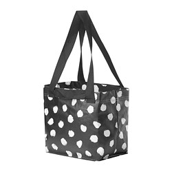 SKRUTTIG - Bag, white/black