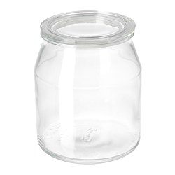 IKEA 365+ - Jar with lid, glass