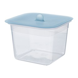 IKEA 365+ - Food container with lid, square plastic/silicone
